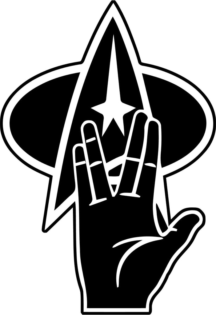 Star Trek Live Long And Prosper Vinyl Car Window Laptop Decal Sticker