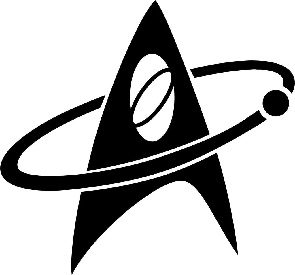 Star Trek Science Communicator Insignia - Vinyl Car Window and Laptop Decal Sticker - Decal - Car and Laptop Window Decal Sticker - 1