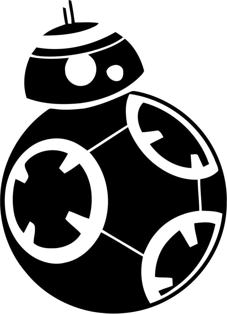Star Wars BB8 Vinyl Car Window Laptop Decal Sticker