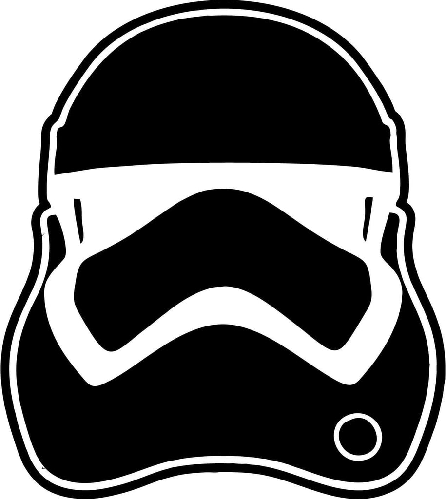 Star Wars Force Awakens Stormtrooper Helmet Car Window Laptop Decal Sticker