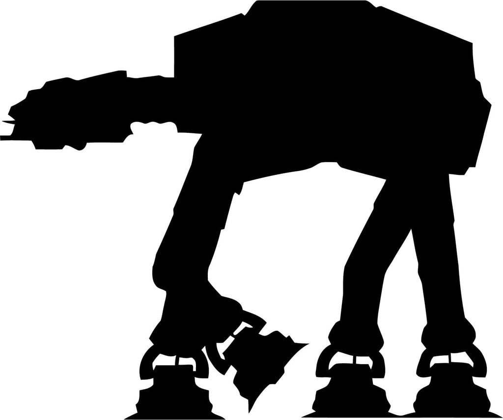 Star Wars Imperial Walker Vinyl Car Window Laptop Decal Sticker
