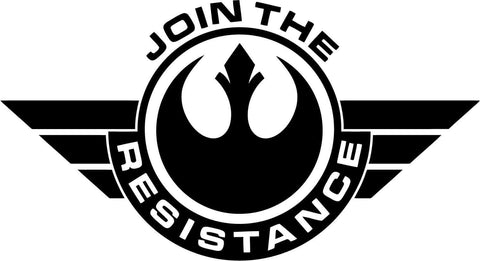 Star Wars - Join The Resistance Badge - Vinyl Car Window and Laptop Decal Sticker