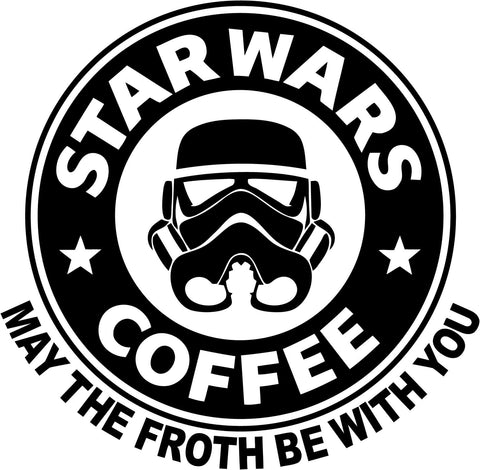 Star Wars Bucks Coffee Vinyl Car Window Laptop Decal Sticker