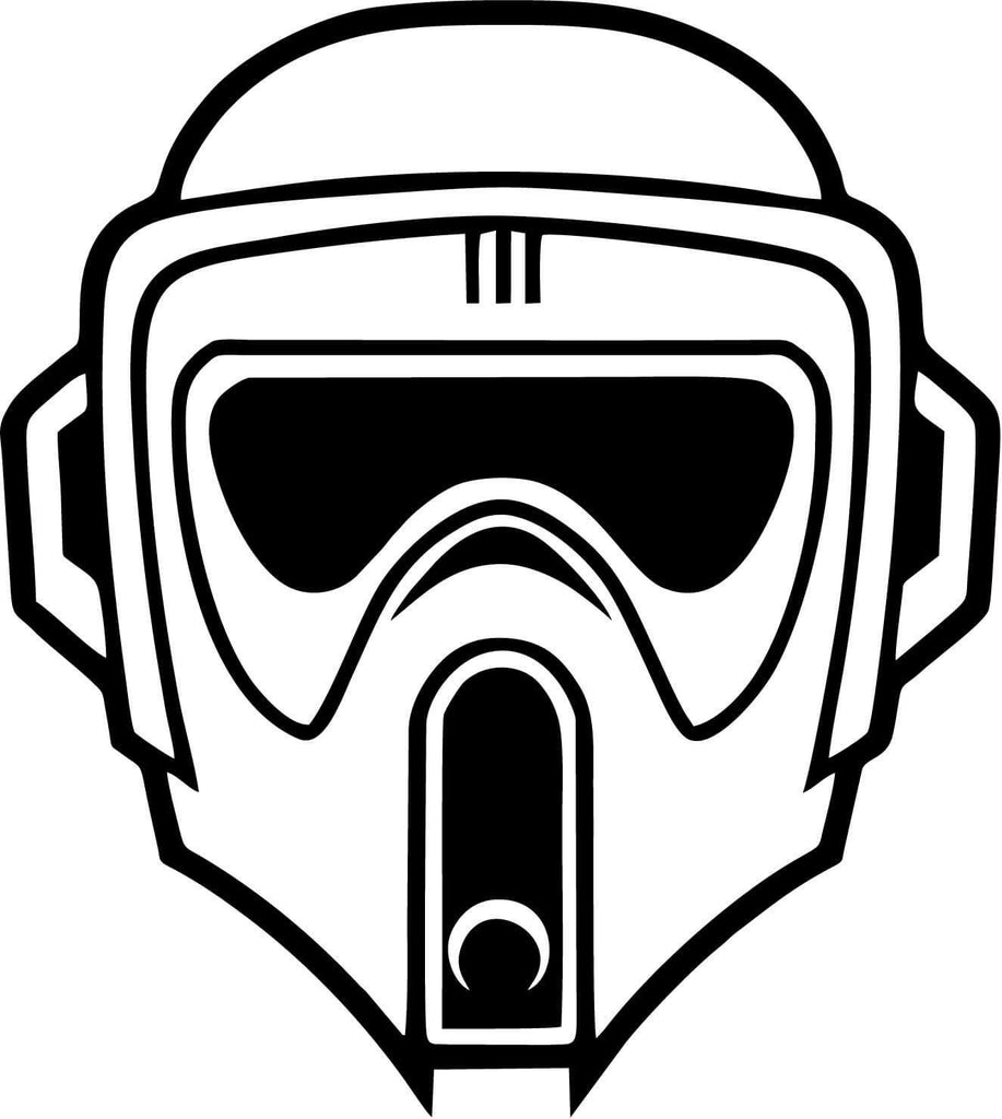 Star Wars - Biker Scout - Vinyl Car Window and Laptop Decal Sticker - Decal - Car and Laptop Window Decal Sticker - 1