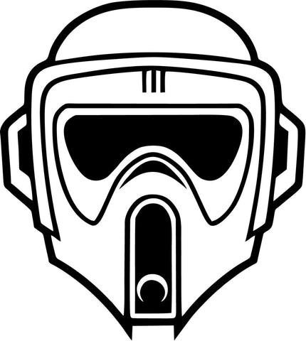 Star Wars - Biker Scout - Vinyl Car Window and Laptop Decal Sticker