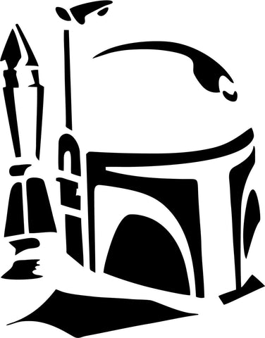 Star Wars - Boba Fett Helmet - Vinyl Car Window and Laptop Decal Sticker