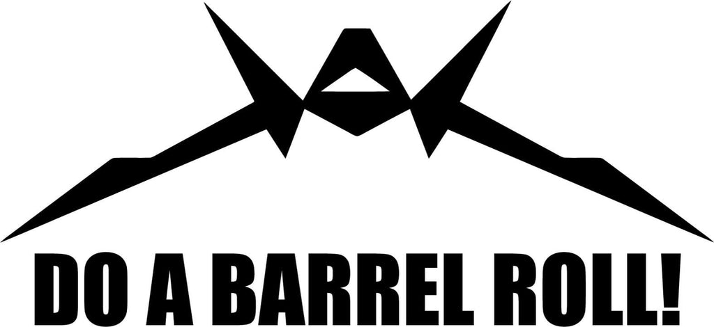 Starfox Do A Barrel Roll Vinyl Car Window Laptop Decal Sticker