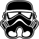 Star Wars - Stormtrooper Helmet Galactic Empire  - Vinyl Car Window and Laptop Decal Sticker - Decal - Car and Laptop Window Decal Sticker - 1