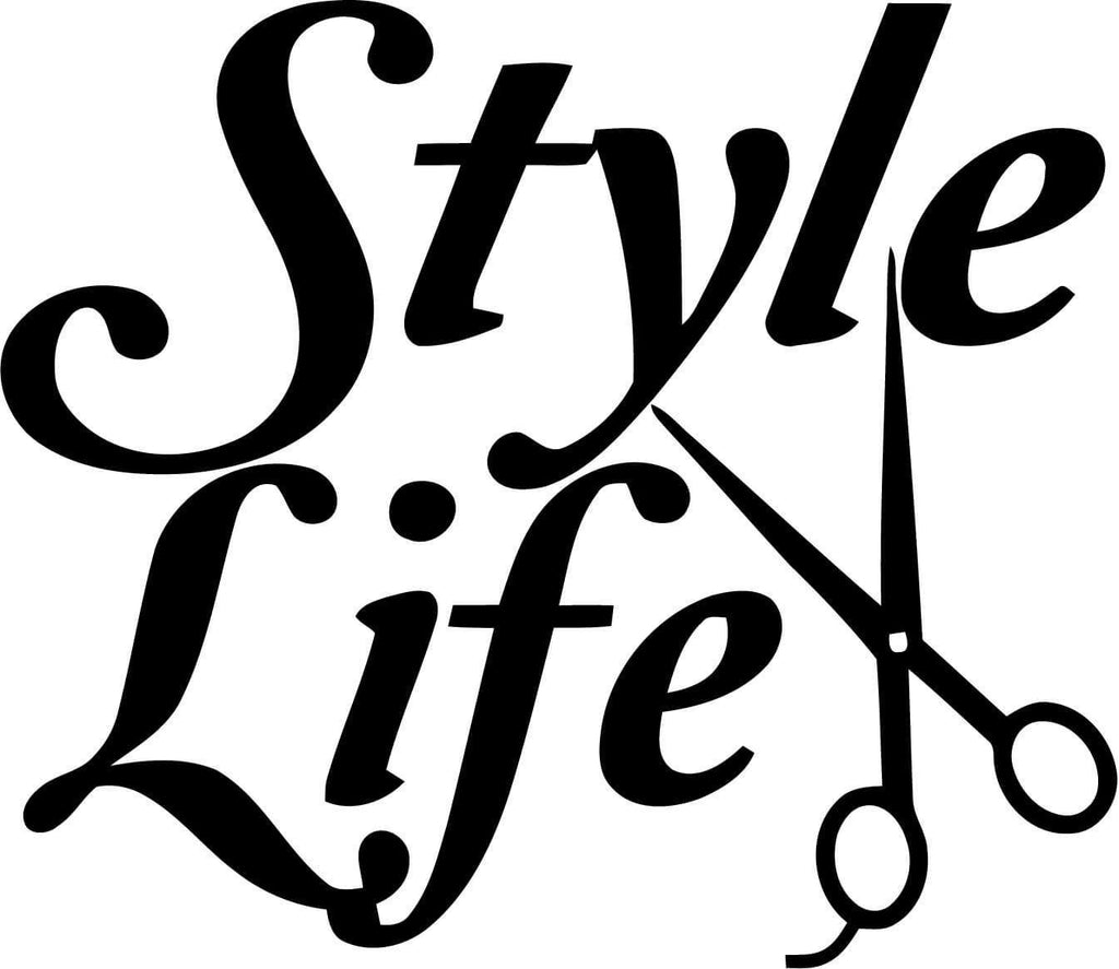 Style Life with Sissors Stylist Vinyl Car Window Laptop Decal Sticker