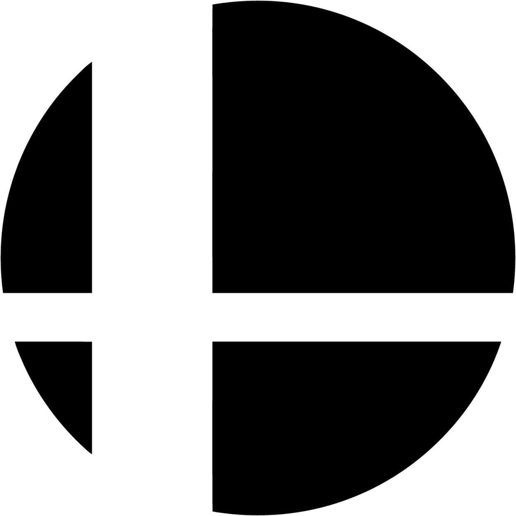 Super Smash Brothers Smash Ball Vinyl Car Window Laptop Decal Sticker