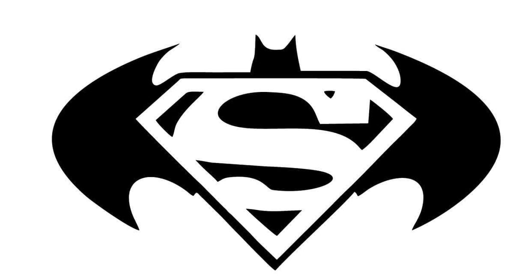 Superman & Batman Vinyl Car Window Laptop Decal Sticker
