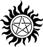 Supernatural - Anti Possesion - Death - Vinyl Car Window and Laptop Decal Sticker - Decal - Car and Laptop Window Decal Sticker