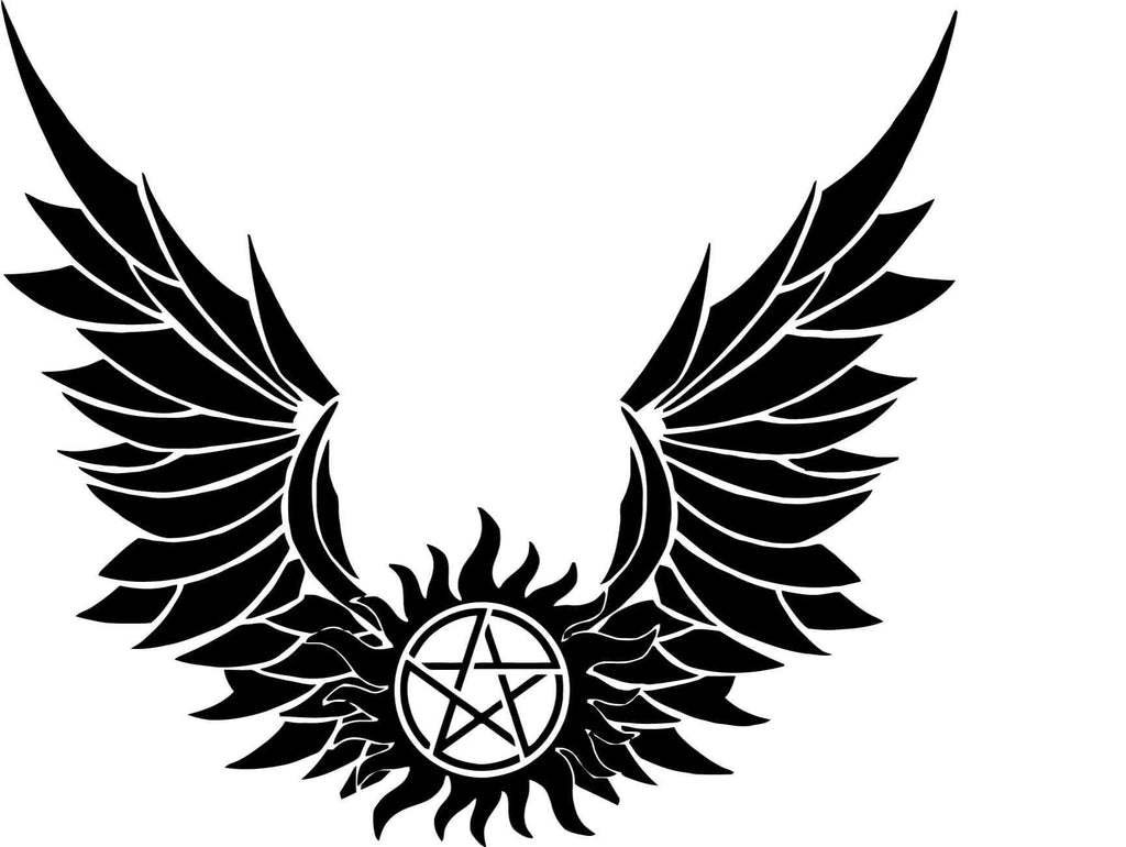 Supernatural - Anti Possesion Symbol - Vinyl Car Window and Laptop Decal Sticker - Decal - Car and Laptop Window Decal Sticker