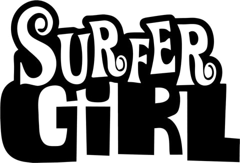 Surfer Girl Vinyl Car Window Laptop Decal Sticker