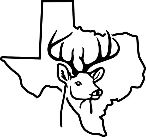 Texas Deer Vinyl Car Window Laptop Decal Sticker