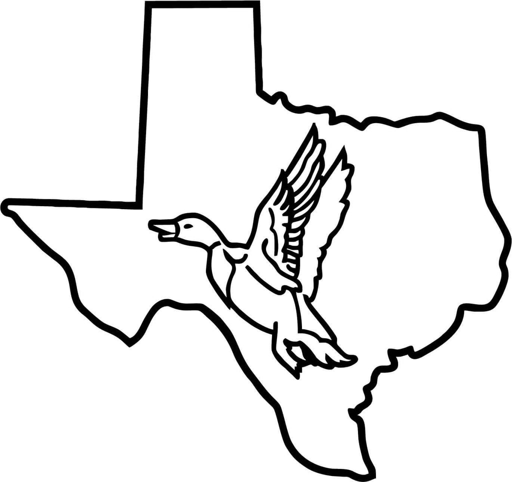 Texas Duck Vinyl Car Window Laptop Decal Sticker