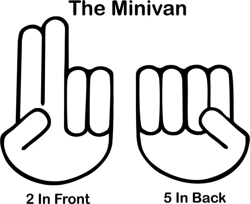 The Minivan 2 In Front 5 In The Back Vinyl Car Window Laptop Decal Sticker
