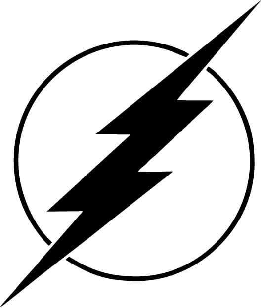 The Flash Logo Vinyl Car Window Laptop Decal Sticker