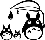 Totoro Family With Leaf Vinyl Car Window Laptop Decal Sticker