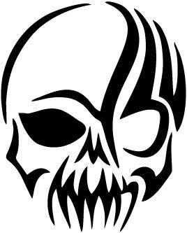 Tribal Gothic Skull Vinyl Car Window Laptop Decal Sticker