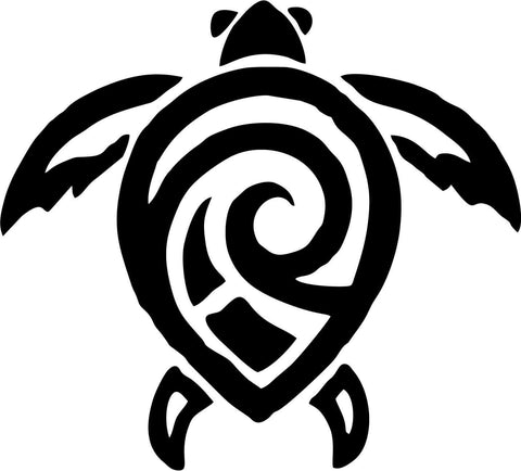 Tribal Turtle Vinyl Car Window Laptop Decal Sticker