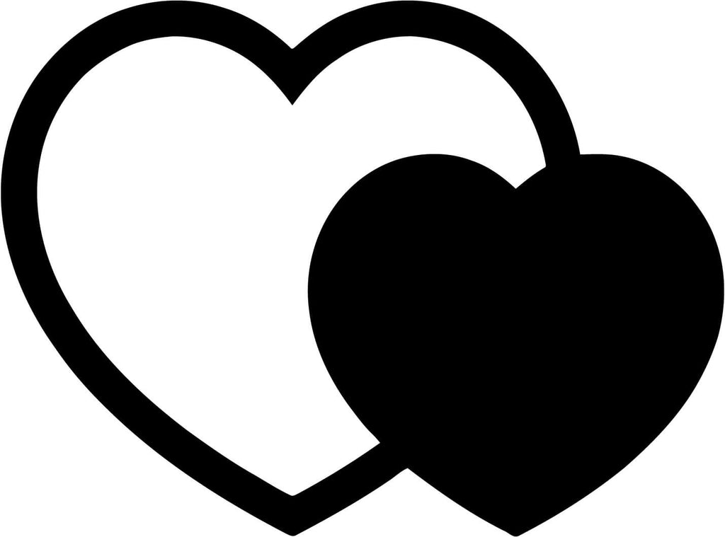 Two Hearts Vinyl Car Window Laptop Decal Sticker
