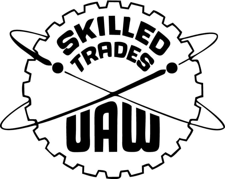 United Auto Workers Skilled Trades Vinyl Car Window Laptop Decal Sticker