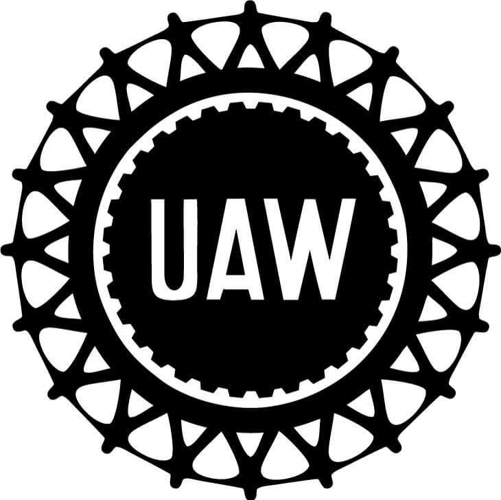 United Auto Workers UAW Vinyl Car Window Laptop Decal Sticker
