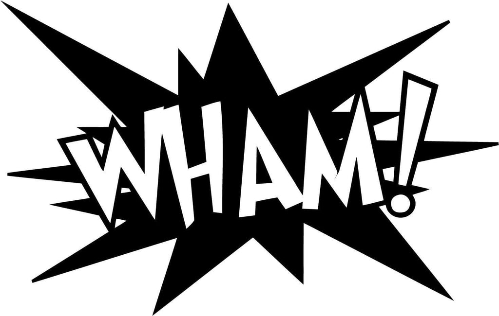 WHAM! Comic Book Exclamation - Vinyl Car Window and Laptop Decal Sticker - Decal - Car and Laptop Window Decal Sticker