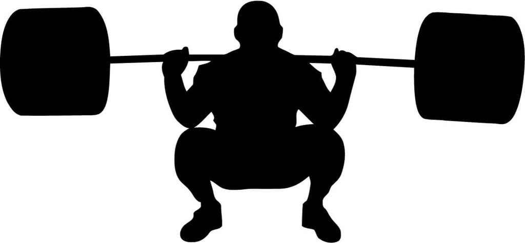 weightlifting silhouette vinyl car window and laptop decal sticker