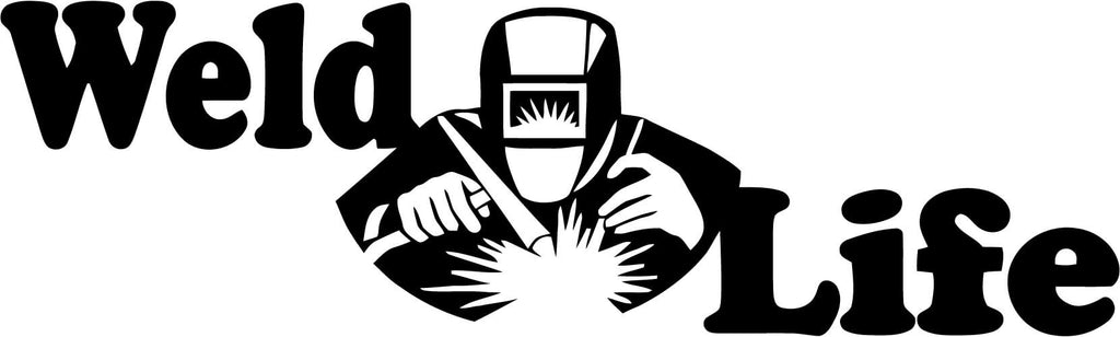 Weld Life Welder Vinyl Car Window Laptop Decal Sticker