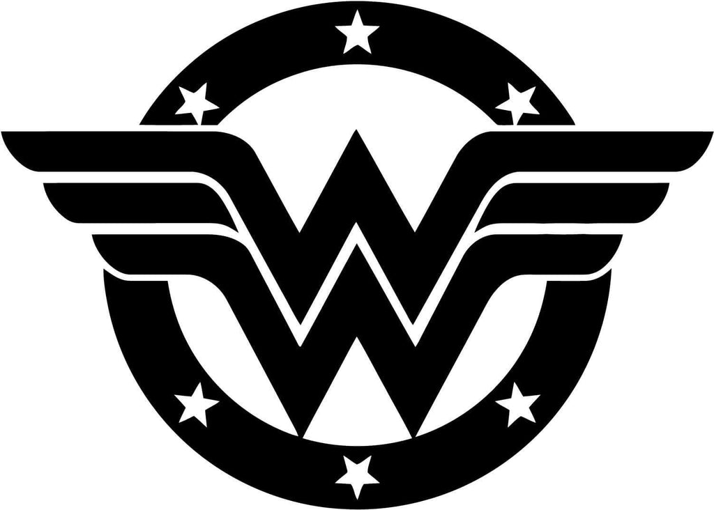 Wonder Woman Stars Badge Vinyl Car Window Laptop Decal Sticker