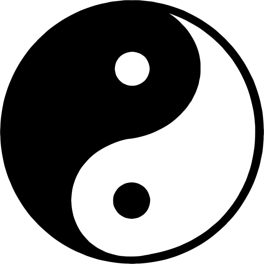 Ying Yang Yin Yan Symbol Vinyl Car Window Laptop Decal Sticker