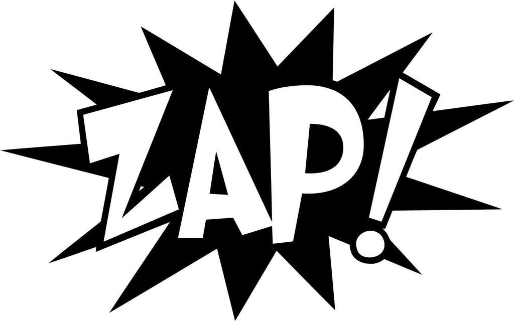 ZAP! Comic Book Exclamation Vinyl Car Window Laptop Decal Sticker