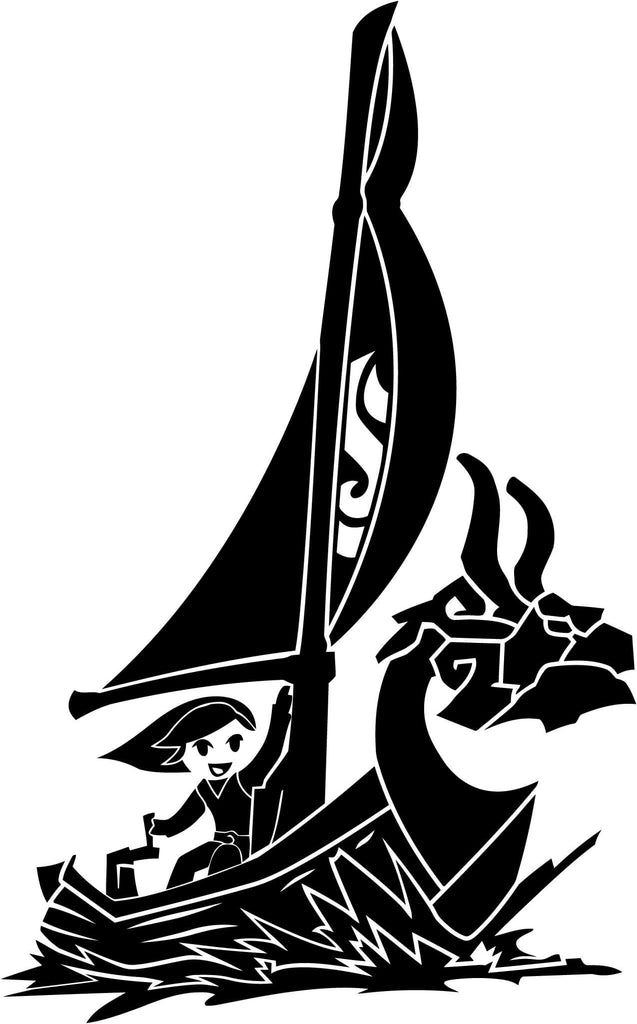 Zelda Windwake Boat Vinyl Car Window Laptop Decal Sticker