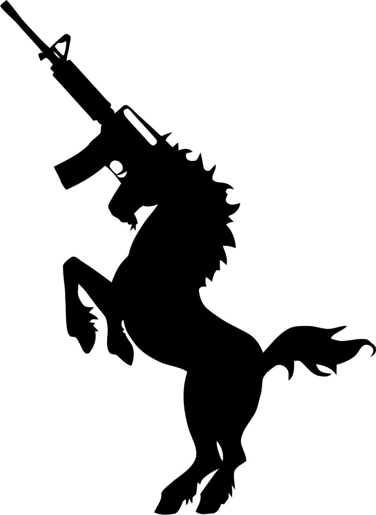 AK Unicorn Vinyl Car Window Laptop Decal Sticker