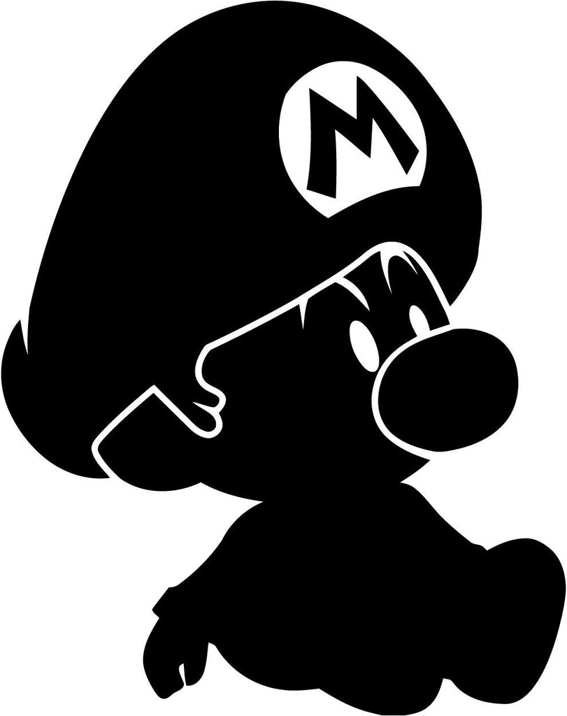 Mario - Baby Mario - Vinyl Car Window and Laptop Decal Sticker - Decal - Car and Laptop Window Decal Sticker - 1