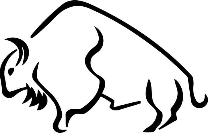 Buffalo Vinyl Car Window Laptop Decal Sticker
