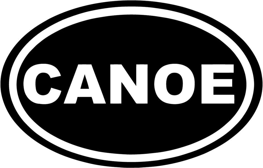 Canoe - Oval - Vinyl Car Window and Laptop Decal Sticker - Decal - Car and Laptop Window Decal Sticker - 1