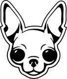 Chihuahua Vinyl Car Window Laptop Decal Sticker