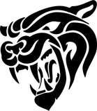 Cougar Face Vinyl Car Window Laptop Decal Sticker