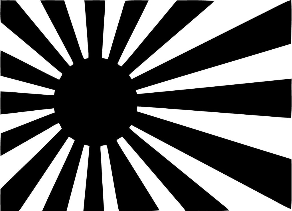 flag - jdm - Vinyl Car Window and Laptop Decal Sticker - Decal - Car and Laptop Window Decal Sticker - 1
