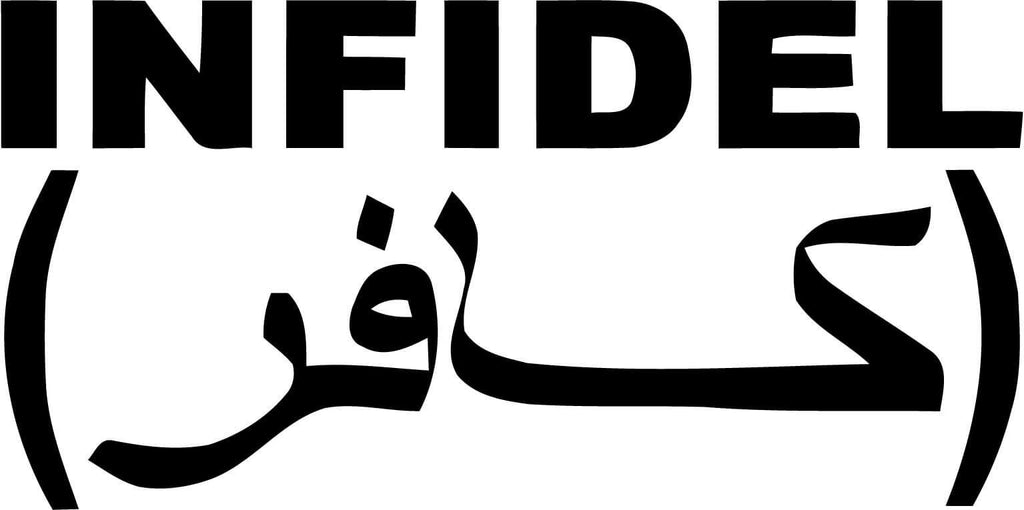 Infidel Vinyl Car Window Laptop Decal Sticker