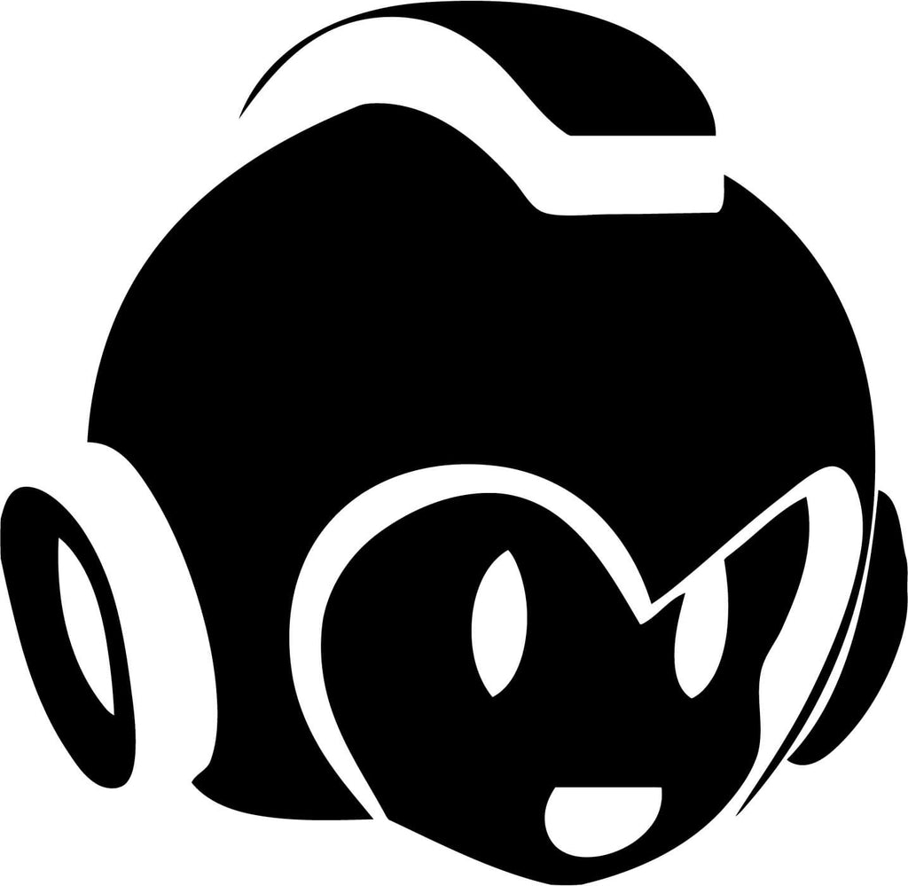 Megaman Head Vinyl Car Window Laptop Decal Sticker