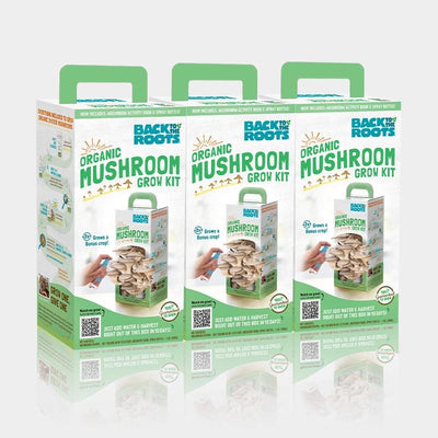 Organic Mushroom Grow Kit Family Bundle, 3-Pack (Save 15%)