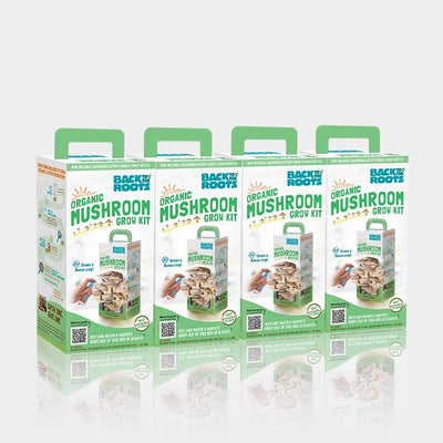 Organic Mushroom Grow Kit, Bulk 4-Pack (Save 20%)
