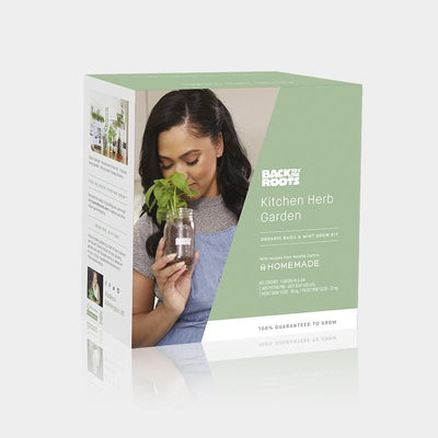 Kitchen Mason Jar Herb Garden by Ayesha Curry - Organic Basil & Mint 🌿