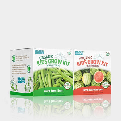 Kids Grow Kit - Science Edition - Organic Bean & Watermelon 2 Pack
