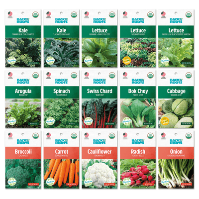 Organic Fall Essentials, 15 Pack Seed Bundle
