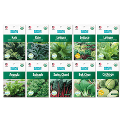 Organic Fall Greens, 10 Pack Seed Bundle